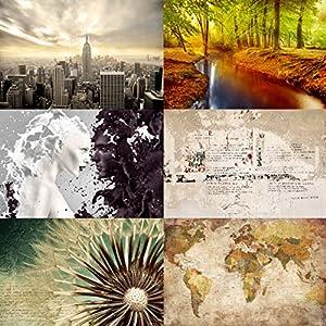 Fotomural – Top Bestseller – Mural apaisado papel pintado fotomurales murales pared papel para pared foto 3D mural pared barato decorativo Dimension: 24cm x 35cm Sample; Motivo: bosque de otoño