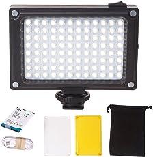 Ulanzi Rechargeble 96 LED Videoleuchte Tasche Mini auf Kamera LED Licht mit 2500mAh Batterie und Magnet Filter für Sony Panasonic Canon Nikon DSLR Camcorder
