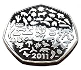 2011 WWF - World Wildlife Fund Brilliant Uncirculated Proof 50p encapsulated in Lighthouse Everslab Coin Holders