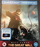 The Great Wall Steelbook UK Limited Edition Steelbook In 3D & 2D Bluray + Ultra Violet Region Free