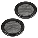 tomzz Audio 2800-000 Lautsprecher Gitter Grill für 100mm DIN Lautsprecher, schwarz, 2-teilig Kunststoffring mit Metallgitter, Satz
