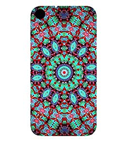 GLOWING ASSORTED JEWELS DESIGN PATTERN 3D Hard Polycarbonate Designer Back Case Cover for HTC Desire 830::HTC Desire 830 dual sim