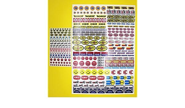 RC Vintage Retro style Decals stickers Driver /& Helmet logos BAJA Sand Scorcher