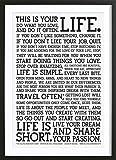 JUNIQE Poster Schwarz-Weiß, Typographie & Sprüche - Design Manifesto Bilder, Kunstdrucke & Prints von jungen Künstlern entworfen von Holstee (Wooden Frame Black 18