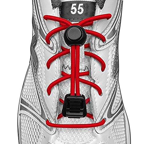 55 Sport Elasticated Lock Shoe Laces Version 2 (Red)