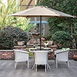 Grand Patio Gartenschirm Sonnenschutz UV-Schutz Sonnenschirm Ø 270CM, rund, Beige