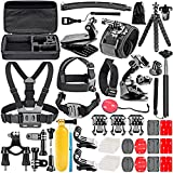 Followsun 52-In-1 Accessori per GoPro Hero Session/5 Hero 1 2 3 3+ 4 5, Kit per Action Camera SJ4000 SJ5000 SJ6000 SJ7000 DBPOWER AKASO VicTsing APEMAN WiMiUS Rollei QUMOX Lightdow Campark Sony Sports Dv immagine