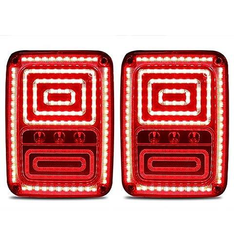 Rupse 2 x LED (1 Paar) Rücklicht Bremsleuchten für Jeep