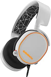 SteelSeries 61444 Arctis 5 [Legacy Edition], Casque Gaming, Illumination RGB, DTS 7.1 Surround pour PC, PC , Mac , PlayStation 4 , Mobile , VR - Blanc