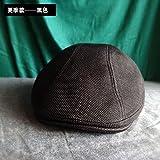 GUYOULY Cotton Head Traspirante Big Head Around cap Summer Sun Hat Maschile Forward cap Tide Beret Uomo,Xl59-62Cm,A