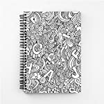 Mobicture unique personalized spiral notebook makes writing and drawing fun.Mobicture Notebooks are Made for the love of writing. Beautiful designs outside, matte finish Unruled sheets inside.You Can Write, draw, work, whatever you do, you will never...