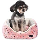 Amazon Basics Cuddler, Cuccia per animali domestici - Taglia S, rosa a pois