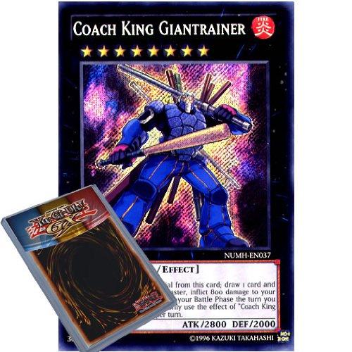 YuGiOh : NUMH-EN037 1st Ed Coach King Giantrainer Secret Rare Card - ( Number Hunters Yu-Gi-Oh! Single Card )