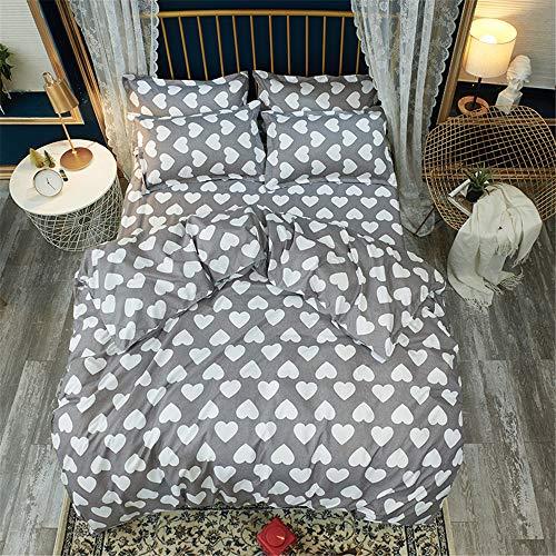 YUNSW Große Größe König Königin Doppel Bettbezug Bettwäsche Set Kinder Concise Ab Größe Baumwolle Bettwäsche B 200x230 cm -