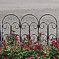 Woodside Dekorative Beet-/Raseneinfassung - Mini-Zaun aus Stahl - 5 Stück von Woodside - Du und dein Garten