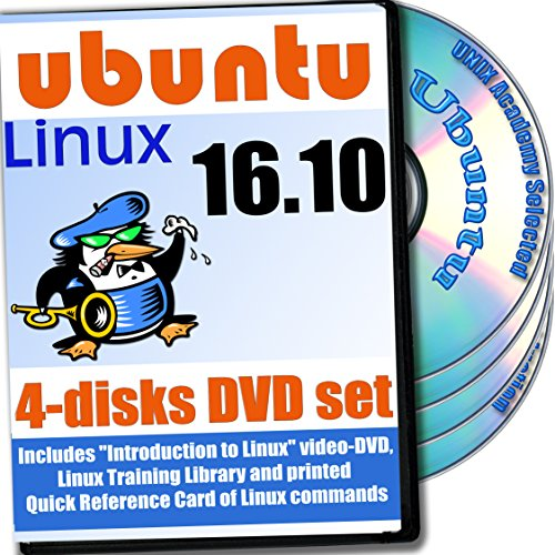 Ubuntu 17.04 Linux 4-Disk DVD komplettes Installations- and Referenz