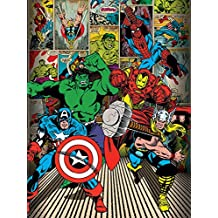 Marvel Comics 60 x 80 cm aquí vienen los héroes Impresión de lienzo - Canvas heroes marvel 60x80