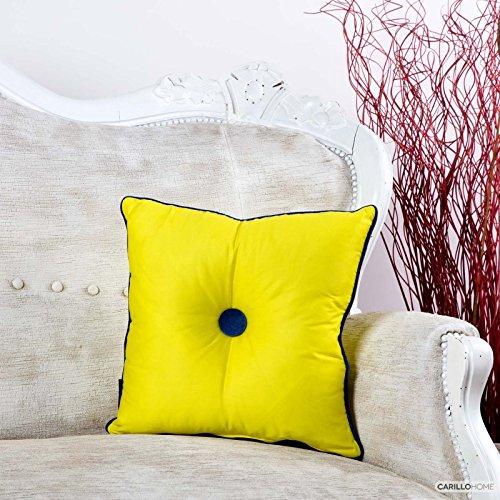 Knöpfen Mit Gelbe Kissen (Dekokissen Vereinigte mit Knopf Yamato–42x 42, Gelb)