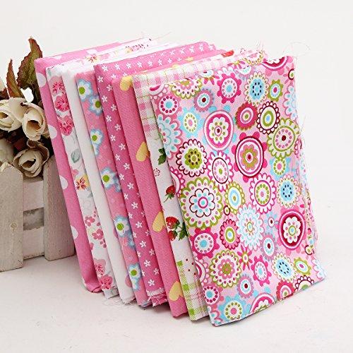 Baban 8pcs DIY panno Tessuti/rosa panno adatto a elemento decorativo e regalo fatto a mano, come sciarpe, scialli, federe, tovaglie, tovagliette, vestiti, artigianato. 400x500mm