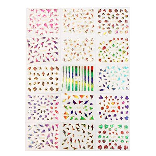 Bluelover 3D Unregelmäßig Broken Glass Nail Art Transfer Sticker Design Manicure Tipps Aufkleber Dekoration