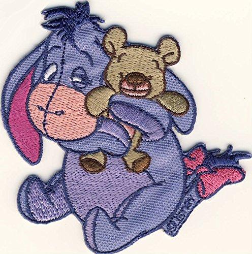 Winnie The Pooh - Pu der Bär - I-Aah - Esel Eeyore - Aufnäher Patch Aufbügler Bügelbild -