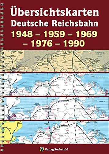 Übersichtskarten der DEUTSCHEN REICHSBAHN 1948 - 1959 - 1969 - 1976 - 1990: [Übersichtskarte 1969 zum Kursbuch der Deutschen Bundesbahn und der Deutschen Reichsbahn von gesamt Deutschland]