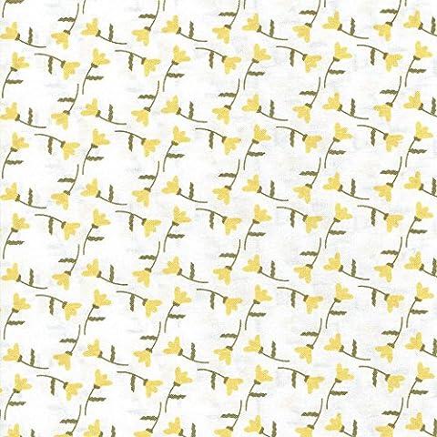 Patrimonio floreale–coordinamento in tessuto libertà–100% cotone–tessuti per patchwork e quilting Stampe E Colori coordinati inglese (prezzo al metro/Quarto) Orange / Buttercup