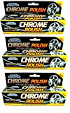 pajeetm (3 Pack) Auto Pride chrom Rad Metall Politur von Restorer Displayschutzfolie Paste KFZ-Home UK