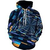 MEN.CLOTHING-LEE Felpa con Cappuccio 3D Unisex novità Felpa Personalizzata Pullover Felpa con Cappuccio Elasticizzata Felpa c