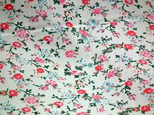 Baumwolle-poly-stoff (Floral Ditsy Flower Poly Baumwolle Print Kleid Craft Stoff 111,8cm breit M330 multi)