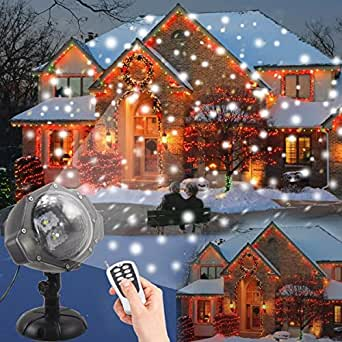 Projecteur led no l dydylu dynamique chute de neige for Eclairage noel exterieur projecteur