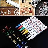 Favourall Paint Pen Auto Reifenfarbe Marker Pens Universal Wasserdichte Permanent Pen Fit für Auto Motorrad Reifenprofil (Rot)