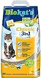 Biokat's Classic 3in1 Katzenstreu ohne Duft | Hochwertige Klumpstreu für Katzen mit 3 unterschiedlichen Korngrößen