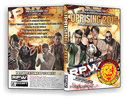 Official RPW / NJPW - Revolution Pro Wrestling & New Japan Pro Wrestling : Uprising UK 2015 Event DVD