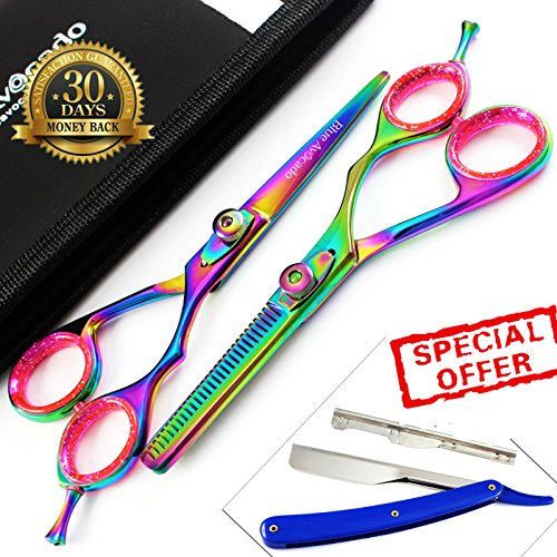 2-x-professional-hair-cutting-thinning-scissors-shears-top-quality-hairdressing-high-quality-steel-s