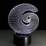 Buntes 3D-Lampe Fernbedienung Fernbedienung Touch-Schalter Visuelle Licht Kreative LED Acryl Lampe