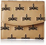 Kanvas Katha Woman's Embroidered PU Sanitary Napkin Holder Bag Pouch (Tan) (KKPSP002)