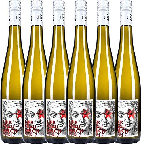 6er Paket - Liebfraumilch 2018 - Weingut Hammel   halbtrockener Weißwein   deutscher Sommerwein aus der Pfalz   6 x 0,75 Liter