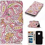 Nancen Motorola Moto G5 (5 pouces) coque Haute Qualité PU Cuir Flip Étui Coque de Protection Wallet / Portefeuille Case Cover Housse - Avec Carte de Crédit Fente, Fermeture Magnétique, pour protéger votre téléphone