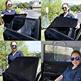 JELLYBABABABY Car Window Shades - Blocks UV Rays - Covers Rear Side Windows - Protects Baby Kids And Pets - Premium Quality Car Sun Shades - Universal Easy Fit - Pack of 2