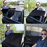 Tendina Parasole Auto Bambini Finestrino - Qualitá Premium JELLYBABABABY- Protegge il Bambino e Animali Domestici Contro i Dannosi Raggi UV, Facile Installazione - 100% Garantito