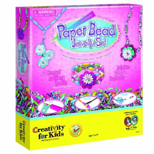 Creativity for Kids Complete Paper Bead Jewelry Kit- (Perlen Papier)