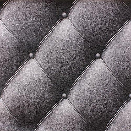 Preisvergleich Produktbild Tkopainsde Luxus Im Europäischen Stil Emulation Leder 3D-Tv-Wand Papier Hintergrund Minimalistischen Schlafzimmer Wohnzimmer Soft Pack Wallpaper Dicke Stereo, 9626 - Schwarz