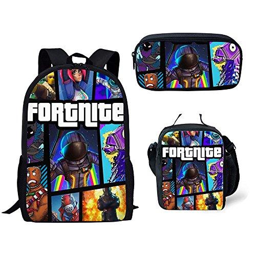 sunvool fortnite mochila de dibujos animados mochila viaje mochilas escolares set 3 piezas mochilas bolsas - fortnite ninja dibujo