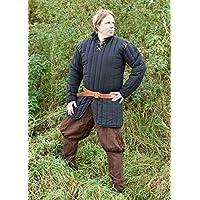 Gambeson avec manches amovibles pour exhibition-noir-mOYEN-viking moyenâgeuse