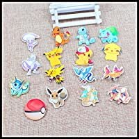 Nuovi trasporto 10pcs bel mix Pokemon Accessori di moda acrilico cartone animato regalo dei monili collare spilla spilla pin, Pet, 966-1