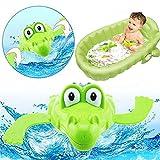 NY80Lmh Schöne Cartoon Tier Schwimmen Krokodil Wind-up Uhrwerk Baby Pool Badespielzeug