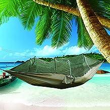 Hamaca portáti,Nakital Outdoor Mosquitero Hamaca Ultra Ligera para Viaje y Camping   200kg de Capacidad de Carga, (250 x 120 cm) Transpirable, Nylon de Paracaídas hammock