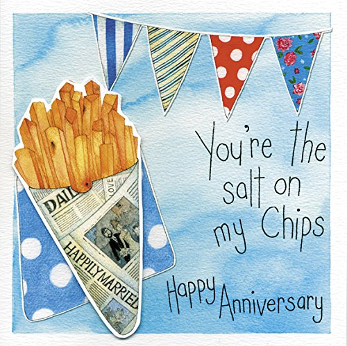 My Chips Happy Anniversary Grußkarte Kate Feuerschale Karten (Aquarell Salz)