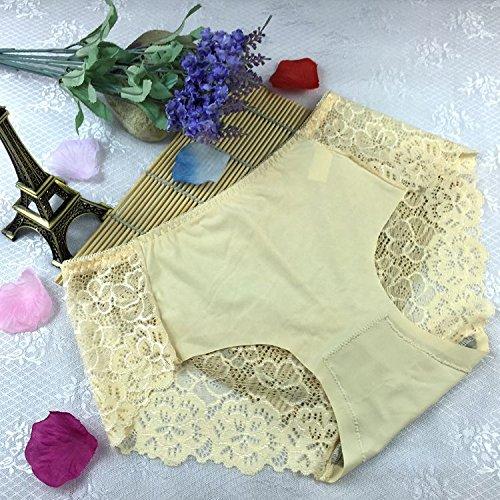 QPLA@T-back Unterhosen Schlüpfer Niedrige taille Slip Damen Unterwäsche Tangas nude color onesize-A